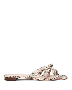 Loeffler Randall - Women's Eveline Snakeskin-Embossed Leather Thong Sandals