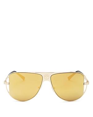 Versace Sunglasses UNISEX MIRRORED AVIATOR SUNGLASSES, 57 MM