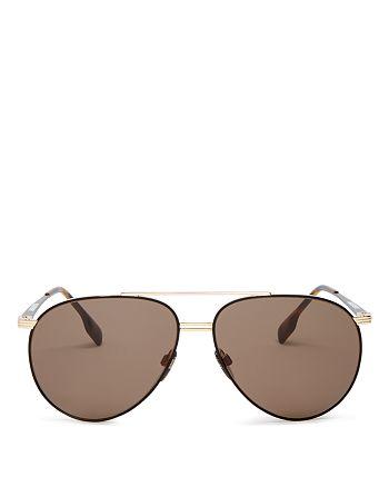 Burberry - Men's Brow Bar Aviator Sunglasses, 60mm