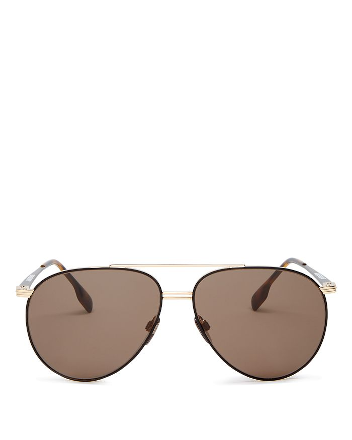 Burberry - Men's Brow Bar Aviator Sunglasses, 60mm