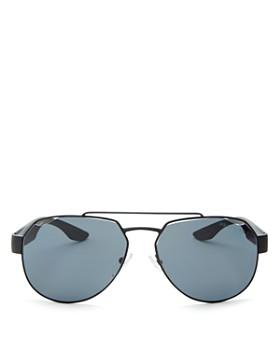 Prada - Male Linea Rossa Polarized Brow Bar Aviator Sunglasses, 59mm