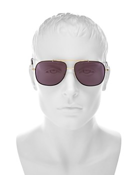 Tom Ford - Men's Vintage-Luxe Brow Bar Aviator Sunglasses, 58mm