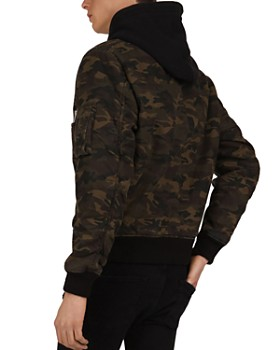 The Kooples - Camouflage Hooded Zip-Front Jacket