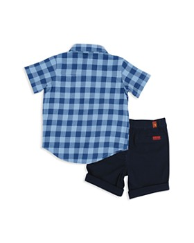 7 For All Mankind - Boys' Short-Sleeve Button-Down Shirt & Shorts Set - Baby