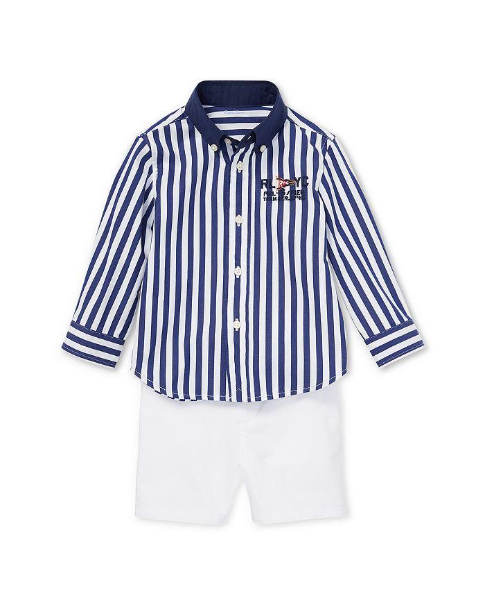Ralph Lauren - Boys' Striped Shirt & Chino Shorts Set - Baby