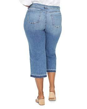 NYDJ Plus - Cropped Wide-Leg Jeans in Rhode
