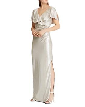 Ralph Lauren - Ruffled Shimmer Gown
