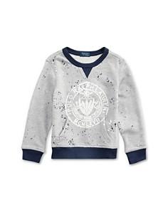 Ralph Lauren - Boys' Splatter-Knit Sweatshirt & Shorts - Little Kid