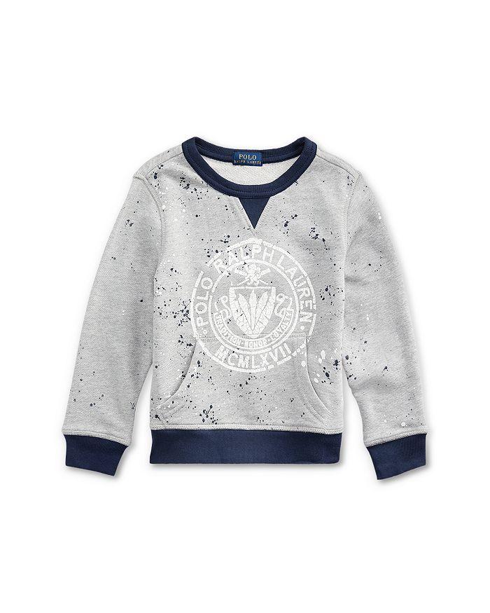 Ralph Lauren - Boys' Splatter Logo Sweatshirt - Little Kid