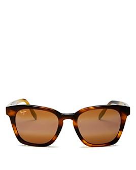 Maui Jim - Unisex Shave Ice Polarized Square Sunglasses, 52mm