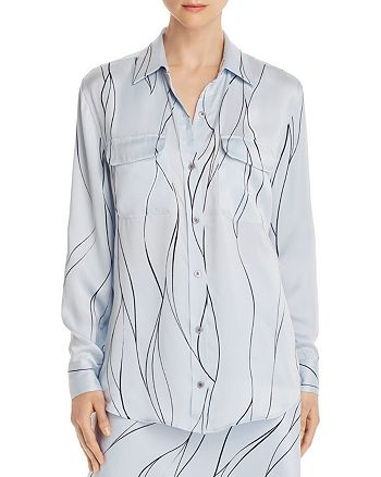 Equipment - Slim Signature Printed Shirt