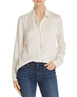 Equipment - Essential Striped Silk Shirt