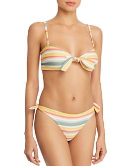 MINKPINK - Mamba Tie-Front Bandeau Bikini Top & Mamba Side Tie Bikini Bottom