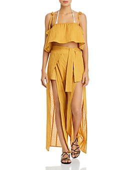 MINKPINK - Shady Cropped Cami Swim Cover-Up & Shady Wrap Swim Cover-Up Pants