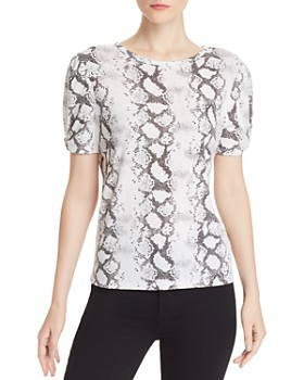 Generation Love - Victoria Puff-Sleeve Snake Print Tee