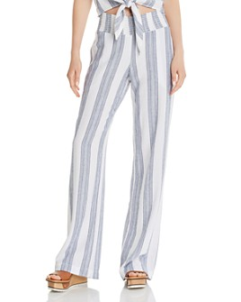 Bella Dahl - Striped Wide-Leg Pants