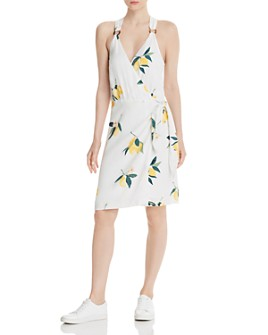 Rails - Trista Lemon Print Wrap Dress