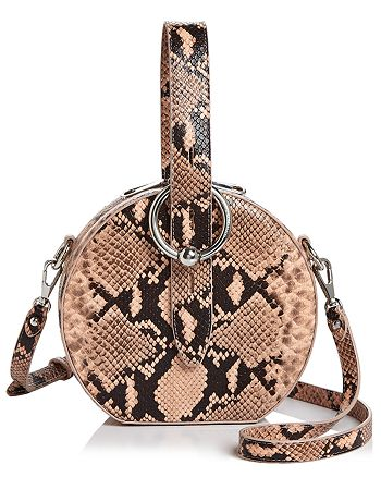 Rebecca Minkoff - Kate Snake-Embossed Circle Crossbody