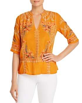 Johnny Was - Uma Embroidered V-Neck Top