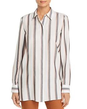 Lafayette 148 New York - Peggy Striped Tunic Shirt