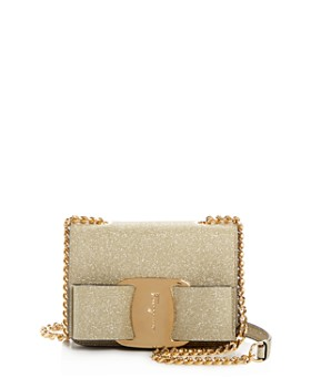 Salvatore Ferragamo - Vara Mini Glitter Crossbody