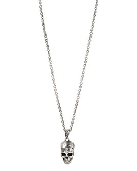 John Varvatos Collection - Sterling Silver Artisan Metals Skull Pendant Necklace, 24""