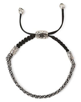 John Varvatos Collection - Sterling Silver Artisan Metals Double Chain Bracelet