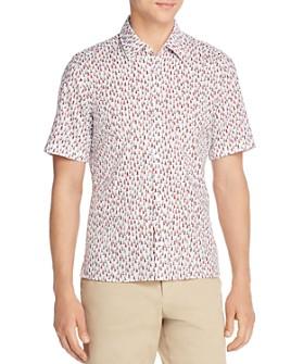 BOSS - Lukka Short-Sleeve Sailboat-Print Regular Fit Shirt