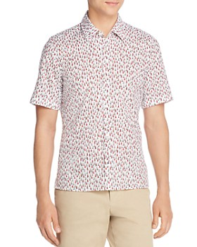 BOSS Hugo Boss - Lukka Short-Sleeve Sailboat-Print Regular Fit Shirt