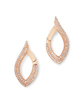 Bloomingdale's - Diamond Milgrain Front-to-Back Earrings in 14K Rose Gold, 0.40 ct. t.w. - 100% Exclusive