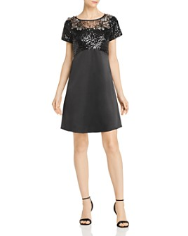 Aidan Mattox - Sequin Charmeuse Dress