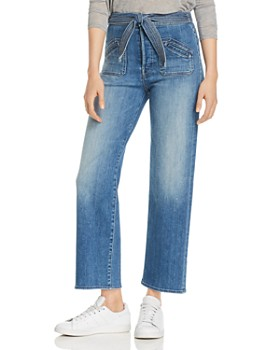 MOTHER - The Rambler Tie-Waist Straight-Leg Jeans in Hop On Hop Off