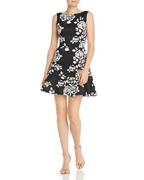17bef8c71fb AQUA - Flounced Floral A-Line Dress - 100% Exclusive ...
