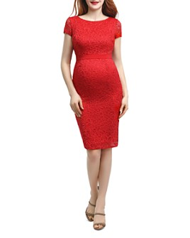 Kimi & Kai - Nancy Lace Maternity Dress