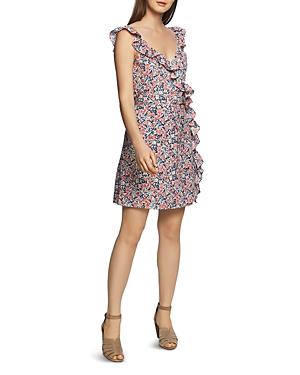 1.state Dresses RUFFLED FLORAL-PRINT DRESS