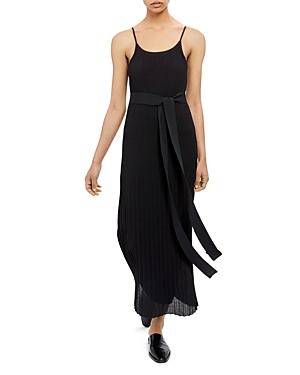 Theory Pleated Maxi Dress