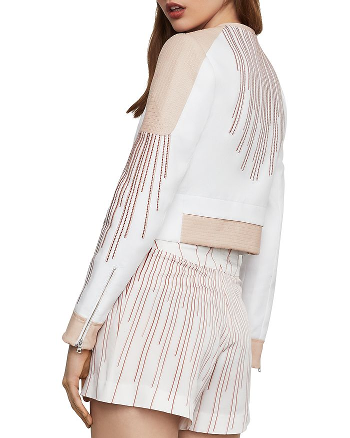 f9f157ef86 BCBGMAXAZRIA Sunburst Embroidered Cropped Jacket | Bloomingdale's