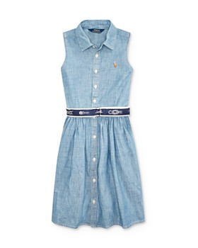 3f6b475c2 Ralph Lauren - Girls  Belted Chambray Shirt Dress - Big Kid ...
