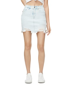 Good American - Bombshell Denim Mini Skirt in Blue301