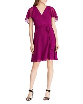 Ralph Lauren - Cape-Overlay Dress
