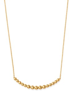 "Bloomingdale's - Beaded Bar Necklace in 14K Yellow Gold, 20"" - 100% Exclusive"