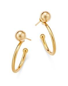 Bloomingdale's - Beaded Tube Hoop Earrings in 14K Yellow Gold - 100% Exclusive