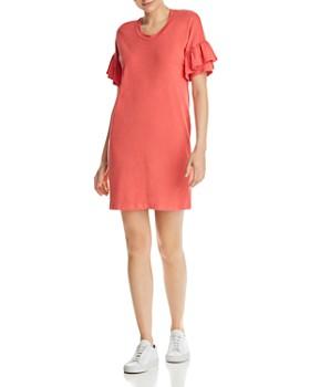 Sundry - Ruffled-Sleeve Dress