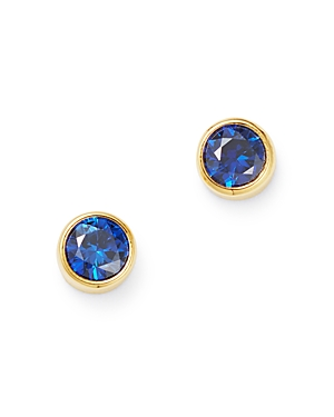 Zoe Chicco 14K Yellow Gold Blue Sapphire Stud Earrings-Jewelry & Accessories