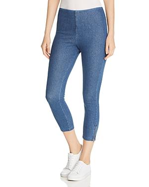 Lysse Zip-Vent Cropped Denim Leggings