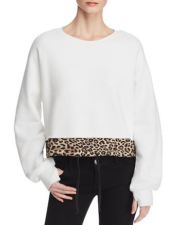 PAM & GELA - Contrast-Hem Sweatshirt