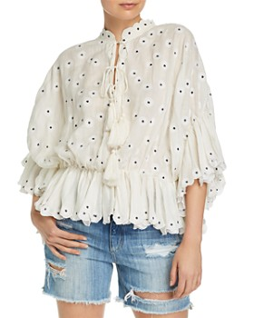 Acler - Spencer Embroidered Top