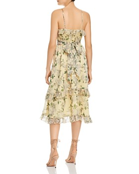 Keepsake - Luscious Ruffled Floral Midi Dress