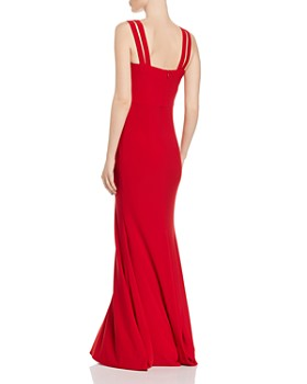 AQUA - Fluted Strap-Detail Gown - 100% Exclusive