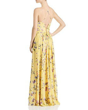 Avery G - Floral-Printed Chiffon Gown
